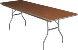 Where to rent 8  ft. Banquet Table in Fresno California, Clovis CA, Central Valley Area