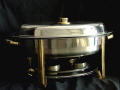 Rental store for 6qt Chafing Dish Oval-Gold Trm in Clovis CA