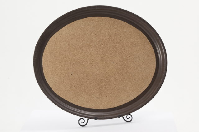 Where to find 15  Round Brown Waitress Cocktail Tray in Clovis