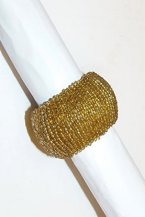 Where to rent Gold Beaded Napkin Ring in Fresno California, Clovis CA, Central Valley Area