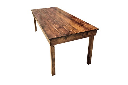 Where to rent 5  ft. Farm Table in Fresno California, Clovis CA, Central Valley Area