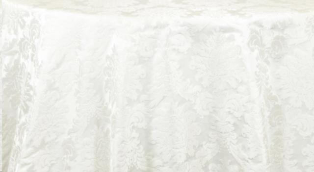Where to find Ivory Victorian Damask Linens in Fresno
